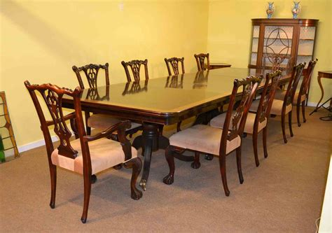 14 ft mahogany dining conference table 10 chairs