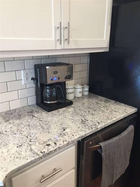 gray subway tile kitchen white granite white subway tile with gray grout 3936