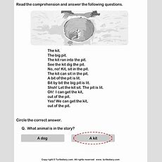 Reading Comprehension Kit And Pit Worksheet  Turtle Diary