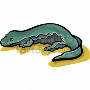Royalty-Free Green salamander with yellow eyes 129919 ...