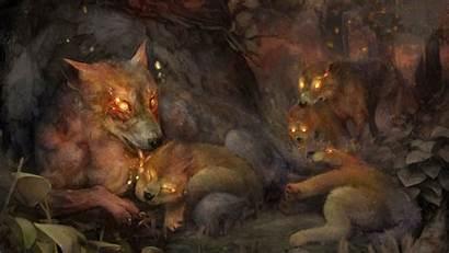 Crown Hellhounds Fantasy Dragons Dog Dragon Wallpapers