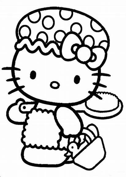 Kitty Hello Coloring Pages Fun