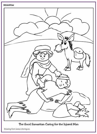 Samaritan Coloring Bible Sunday Preschool Activities Pages