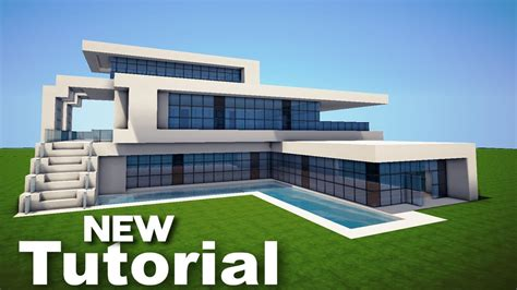 minecraft   build  realistic modern house mansion tutorial youtube