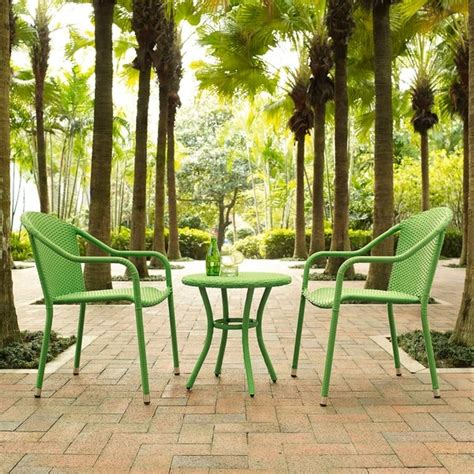 shop palm harbor  piece outdoor wicker cafe seating set