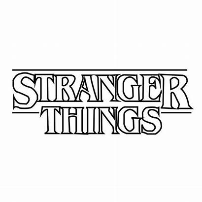 Stranger Coloring Things Pages Netflix Sticker Poster