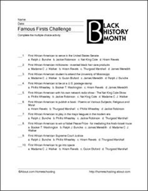printable black history worksheets black history