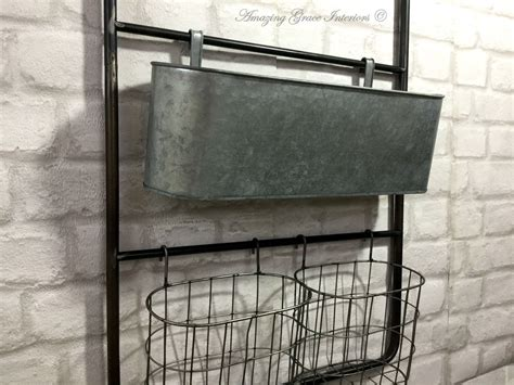Home Interior Metal Shelf : Vintage Industrial Style Metal Wall Shelf Unit Rack Hooks