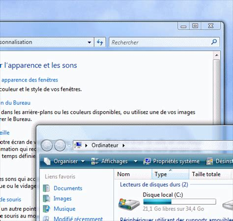 performances du bureau pour windows aero pc astuces activer l 39 interface aero windows vista