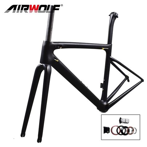aliexpress buy airwolf new carbon road frame only 787g ultralight carbon bike frame with