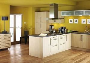 como hacer para decorar una cocina moderna colorida With kitchen colors with white cabinets with plywood wall art