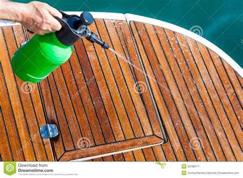 cleaning deck royalty  stock photography image