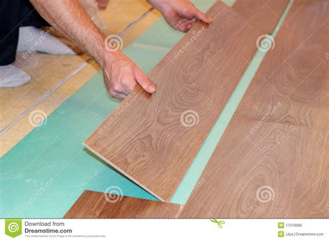 laying laminate wood flooring laying laminate flooring royalty free stock image image 17318996