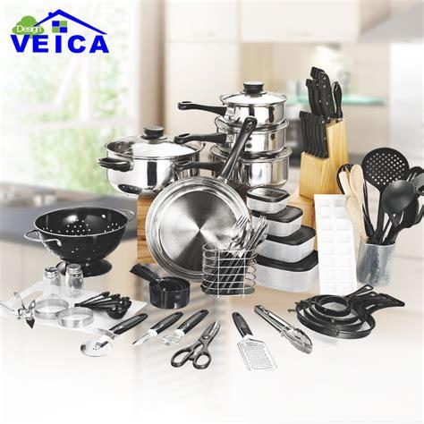kitchen pots pans cooking cookware piece ceramica starter fda panelas utensil arrival sets combo utensils aliexpress pan pot tops ceramic