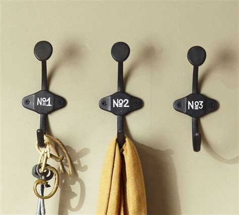 pottery barn decorative wall hooks schoolhouse numbered hooks traditional wall hooks by