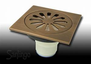 Messing Reinigen Zitronensäure : bodenablauf abfluss 10 x 10 cm antik messing dusche bad ~ Lizthompson.info Haus und Dekorationen