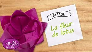 Pliage De Serviette En Papier Facile Youtube : pliage de serviette en papier fleur de lotus ~ Melissatoandfro.com Idées de Décoration