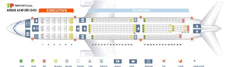airbus a340 300 stoelindeling seat map airbus a340 300 tap portugal best seats in the plane