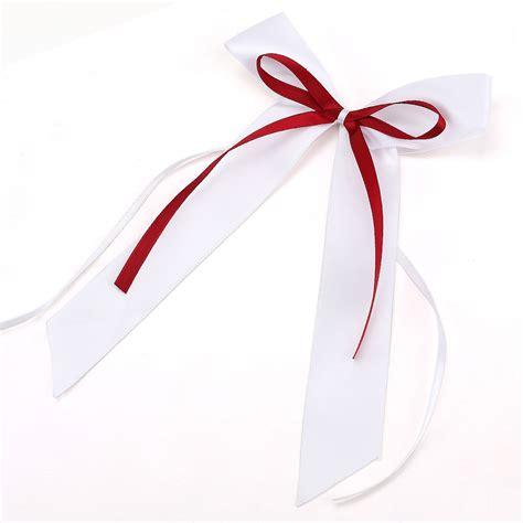 ruban pour deco voiture mariage 10pcs noeud papillon satin ruban mariage voiture d 233 coration vin blanc ebay
