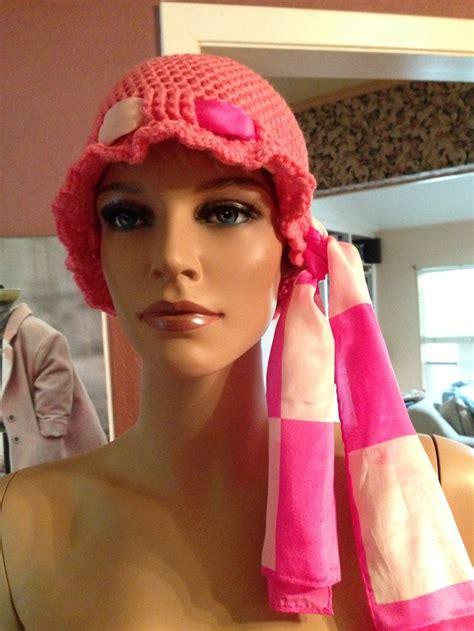 crochet chemo cap  scarf tie crochet scarf