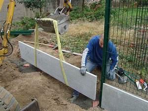 Poser Du Grillage : prix cloture grillage rigide avec plaque beton ~ Premium-room.com Idées de Décoration