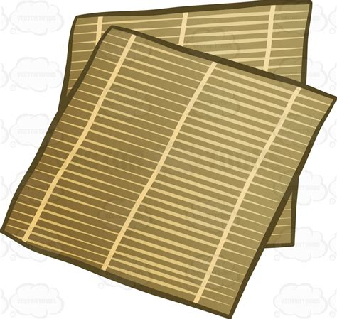 cuisine roller bamboo sushi mats clipart vector