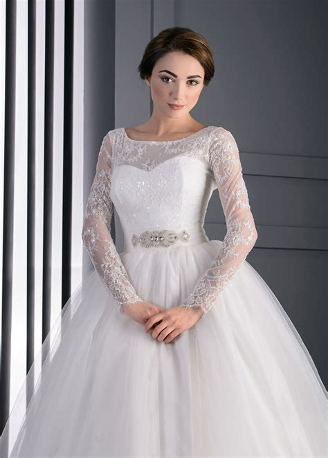 vestido de novia manga larga iglesia mangas illusion