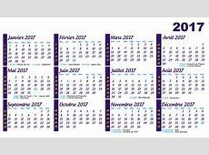 calendrier 2017 avec numéro de semaine et vacances