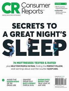 Mattress Comparison Chart Consumer Reports Magazine