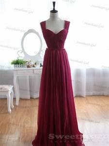 sweetheart girl custom made wine red a line chiffon With wine wedding dress