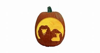 Pumpkin Lion Carving Lamb Pattern Patterns Halloween