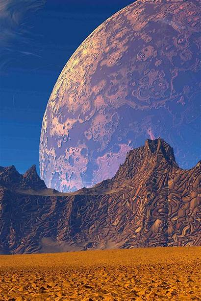 3d Planet Sky Mountains Sand 4k Wallpapers
