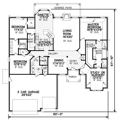 House Plans With Large Bedrooms by Plan No 7074 2 Large Pantry And Large Master Bedroom