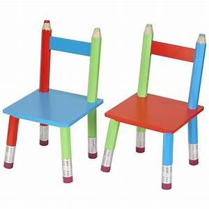Chaise Bois Enfant : chaises crayons pour enfant lot de 2 ~ Teatrodelosmanantiales.com Idées de Décoration