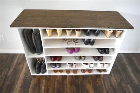 stylish diy shoe rack for any room
