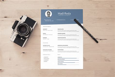 free din a4 resume curriculum vitae psd template on behance