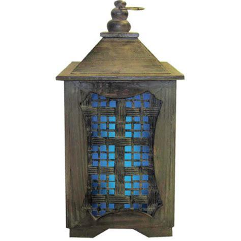 garden meadow solar garden meadow co 15 inch solar temple lantern with blue