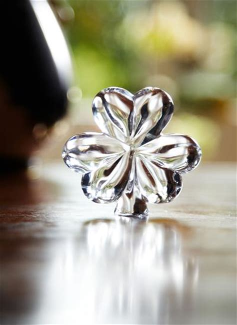 waterford crystal shamrock hand cooler blarney