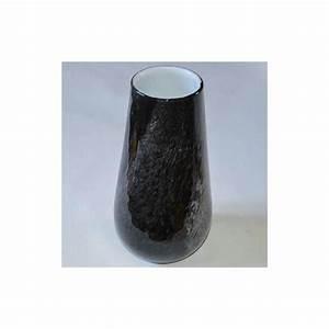 Grand Vase En Verre : grand vase noir en verre hauteur 30 cm boules vases et suspensions creavea ~ Teatrodelosmanantiales.com Idées de Décoration