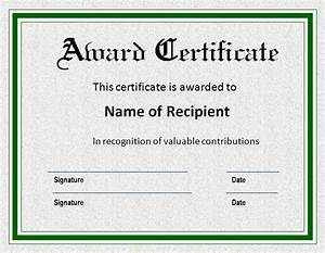 awards certificate templates certificate templates With prize certificates templates free