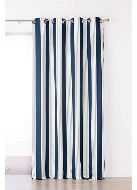 vente rideaux en ligne rideau en jacquard 224 rayures verticales bleu gris homemaison vente en ligne
