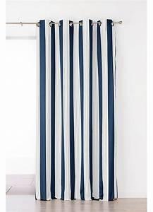 Rideaux Rayures Verticales : rideau en jacquard rayures verticales bleu rouge gris homemaison vente en ligne ~ Teatrodelosmanantiales.com Idées de Décoration