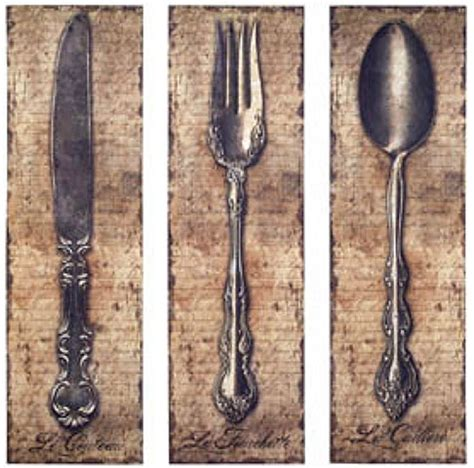 vintage kitchen silverware canvas wall spoon knife fork the cutlery review