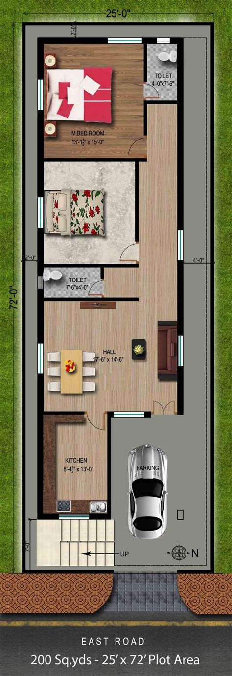 Way2nirman 200 Sq Yds 25x72 Sq Ft East Face House 2bhk