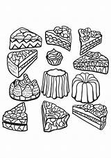 Coloring Cakes Cupcakes Cupcake Zentangle Colorear Colorare Coloriage Gateaux Cup Disegni Tortas Adult Imprimer Adulti Dibujos Dibujo Printable Tegninger Erwachsene sketch template