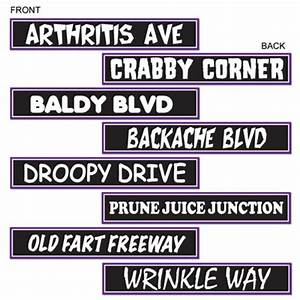 Over-The-Hill Street Sign Cutouts (4/pkg) - PartyCheap