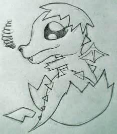 Cute Baby Dragon Drawings Easy