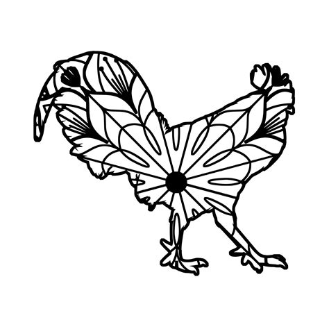 Rooster chicken floral mandala animal graphic by. Rooster Mandala - Rooster Mandala Svg -   Mandala svg ...