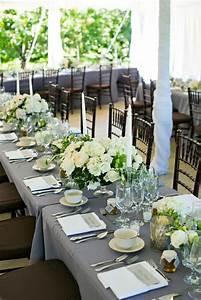 Decoration Table De Mariage Blanc Et Gris Ides Et D