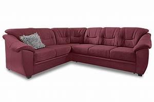 Ecksofa Mit Rundecke : rundecke savona rot mit federkern sofa couch ecksofa ebay ~ Indierocktalk.com Haus und Dekorationen